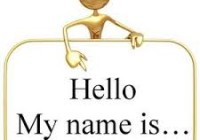 Change in name