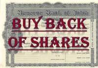 Buyback of securities
