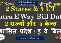 Intra State E Way Bill from 25.05.18